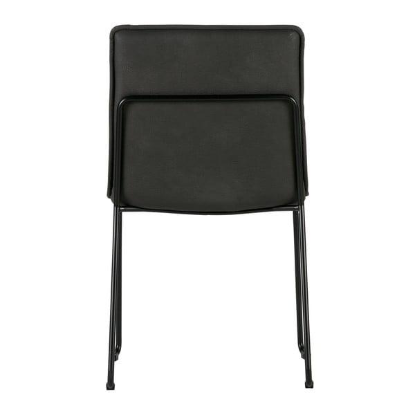 Sada 2 čiernych stoličiek WOOOD Evan