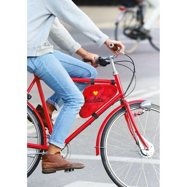 Taštička na bicykel I ♥ Bicicleta, zelená