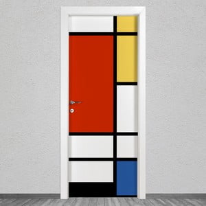 Samolepka na dvere LineArtistica Mondrian 1, 80×215 cm