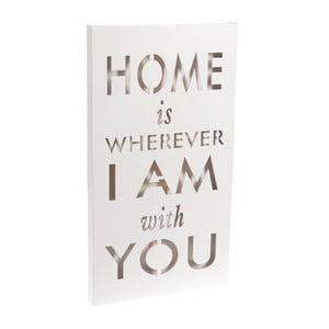 Svietiaca dekorácia Home Is White, 24x44 cm