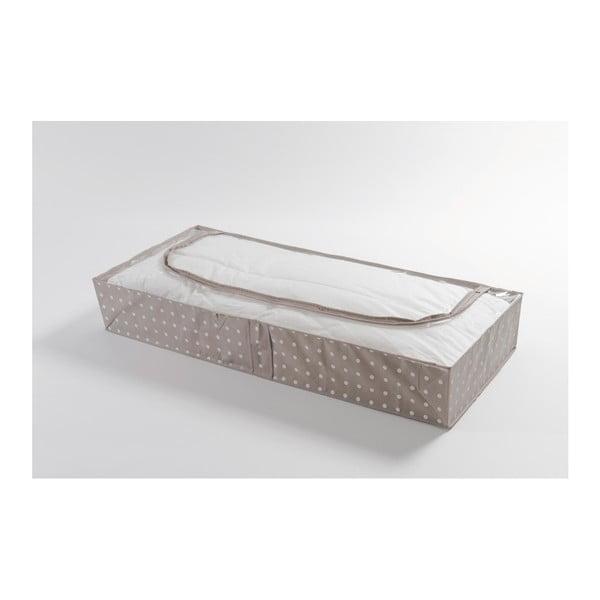Malý béžový úložný box Compactor Dots, 46 x 107 cm