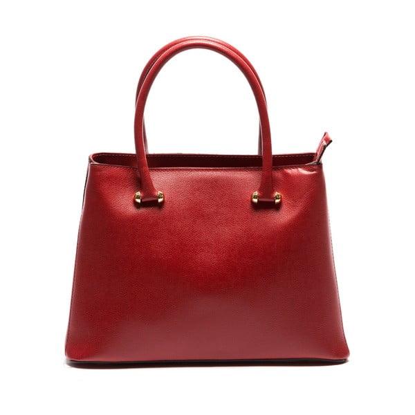 Červená kožená kabelka Sofia Cardoni Francesca