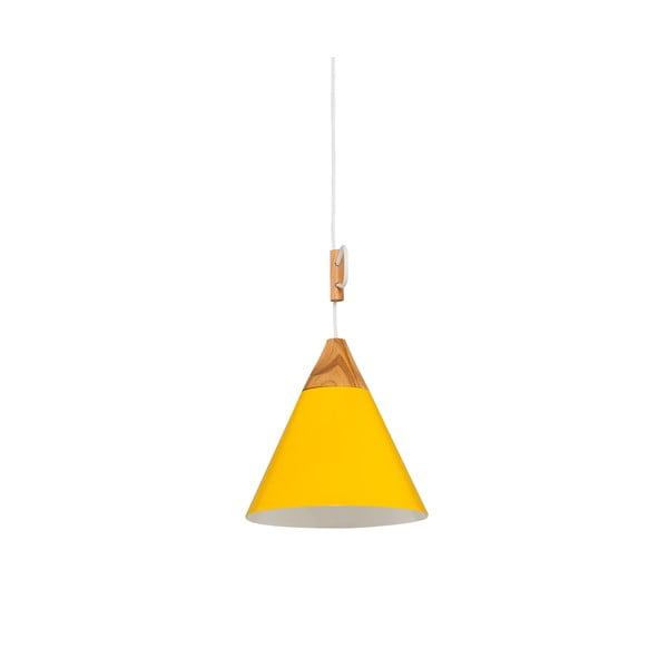 Žlté závesné svietidlo Tomas S