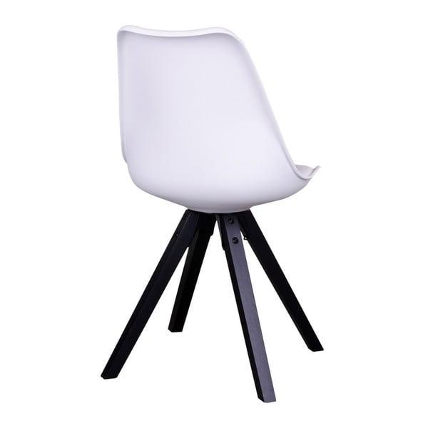 Sada 2 bielych stoličiek s čiernymi nohami House Nordic Bergen