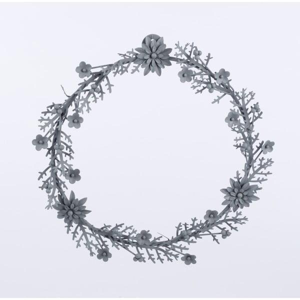 Kovový veniec Wreath, sivý