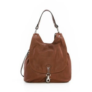 Hnedá kožená kabelka Gianni Conti Pia