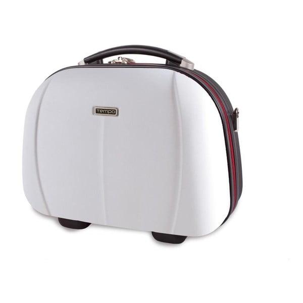 Biely cestovný kozmetický kufrík Tempo