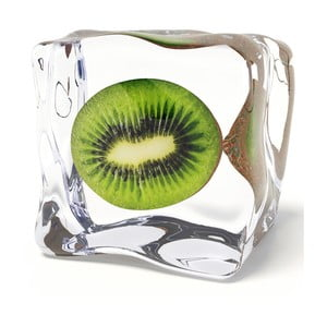 Sklenený obraz Iced Kiwi, 20x20 cm