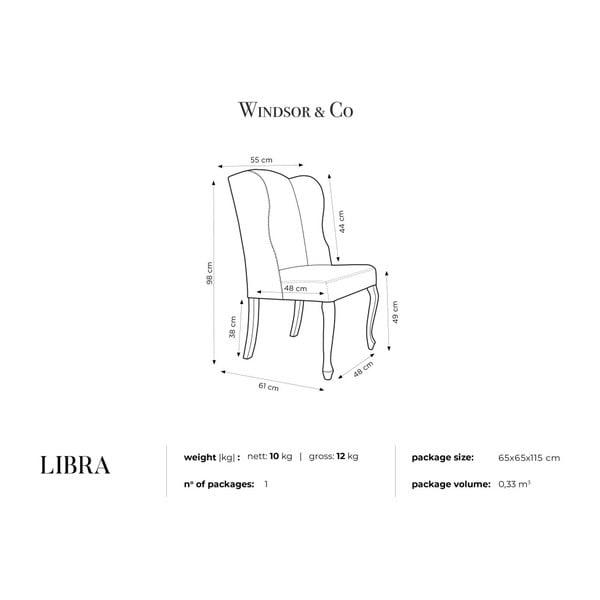 Mätovozelená stolička Windsor & Co Sofas Libra