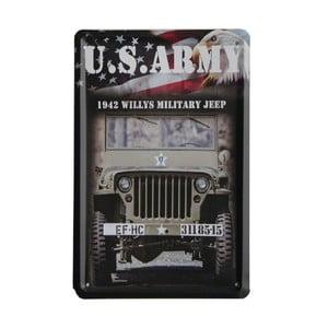 Ceduľa US Army, 15x21 cm