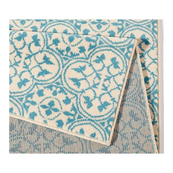 Modrý koberec Hanse Home Gloria Pattern, 80 x 150 cm