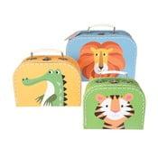 Sada 3 detských kufříkov Rex London Colourful Creatures