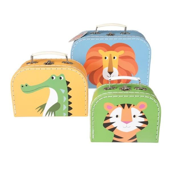 Sada 3 detských kufríkov Rex London Colourful Creatures