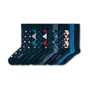 Sada 7 párov unisex ponožiek Black&Parker London Westonbirt Arboretum, veľkosť 37 - 43
