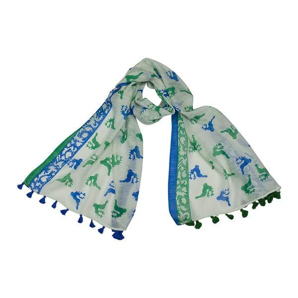 Modro-zelená šatka Goldgeweih Dana