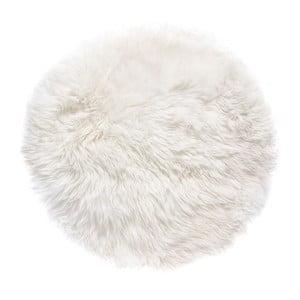 Bílý koberec z ovčí kožešiny Royal Dream Zealand,⌀ 70cm