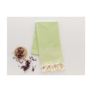 Zelená osuška Hammam Bal Petergi, 100x180cm