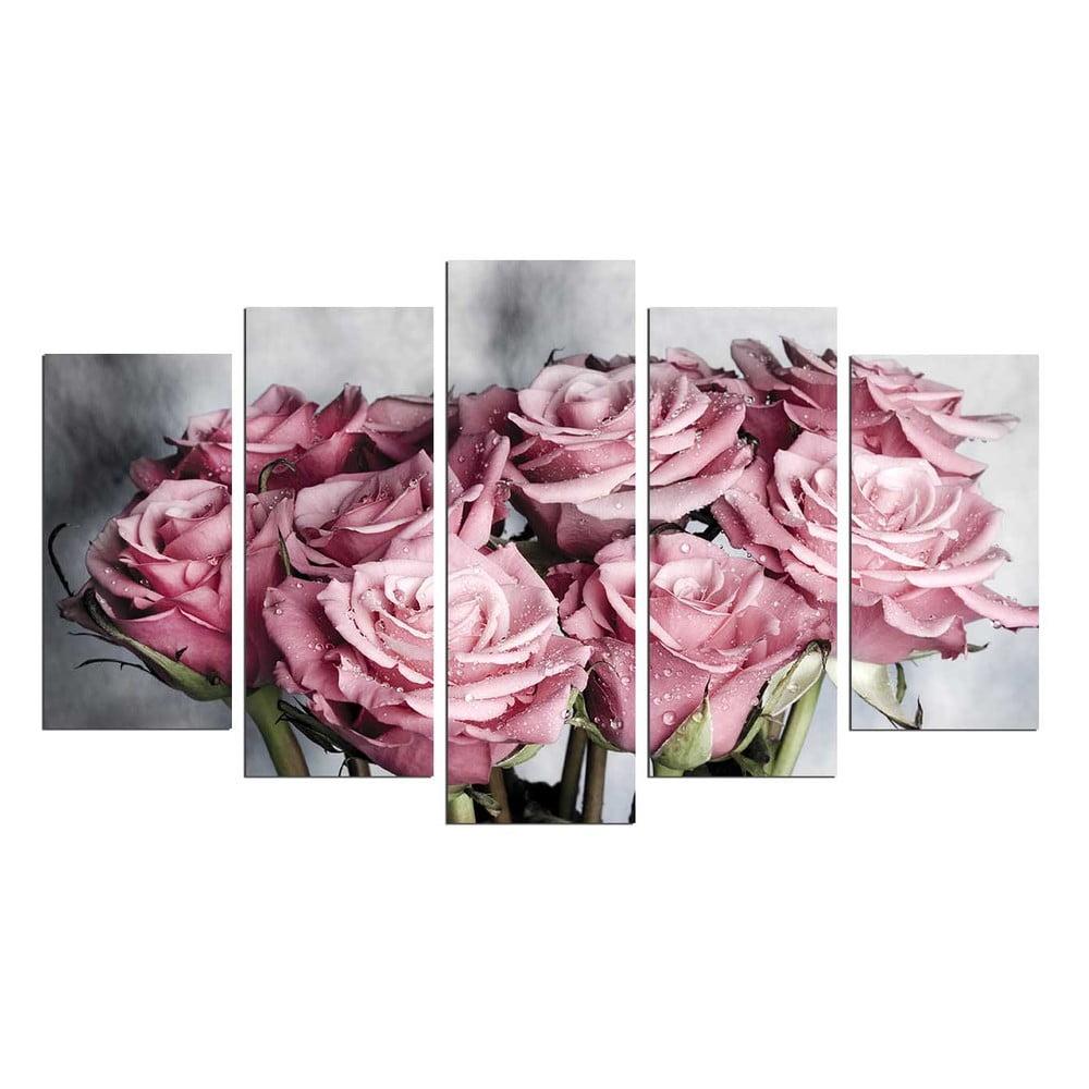Viacdielny obraz Bouquet, 110 × 60 cm