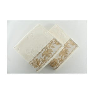 Sada 2 osušiek Asu Cream, 50x90 cm