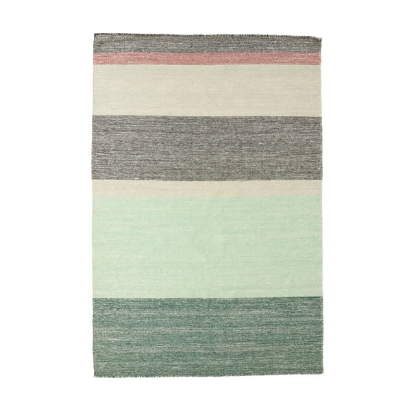 Vlnený koberec Pulvis Plum, 80x250 cm