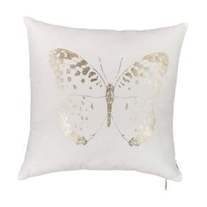 Biela obliečka na vankúš Apolena Butterfly Line, 45 x 45 cm
