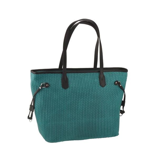 Zelenomodrá kožená kabelka Florence Merga