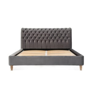 Sivá posteľ z bukového dreva Vivonita Allon, 180 × 200 cm
