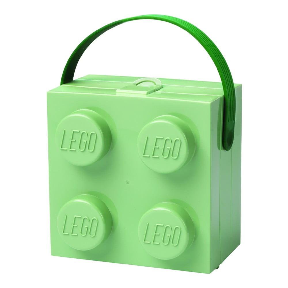 5cf954e31 Dekorácie Úložné krabice a košíky · Svetlozelený úložný box s rukoväťou  LEGO®