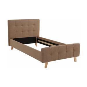 Hnedá jednolôžková posteľ Støraa Limbo, 100 x 200 cm