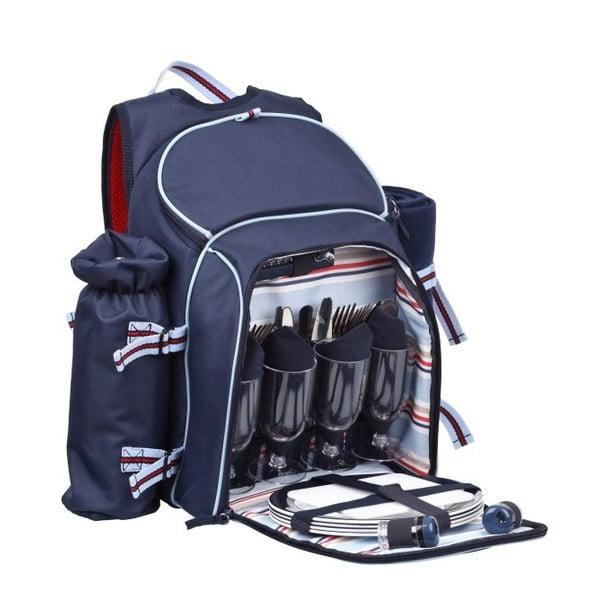 Piknikový batoh Navy pre 4 osoby