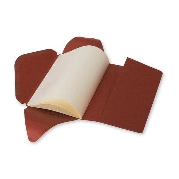 Tehlový zápisník v obálkovej väzbe Moleskine Postal L