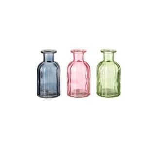 Sada 3 sklenených dekoratívnych fliaš Unimasa Luciana