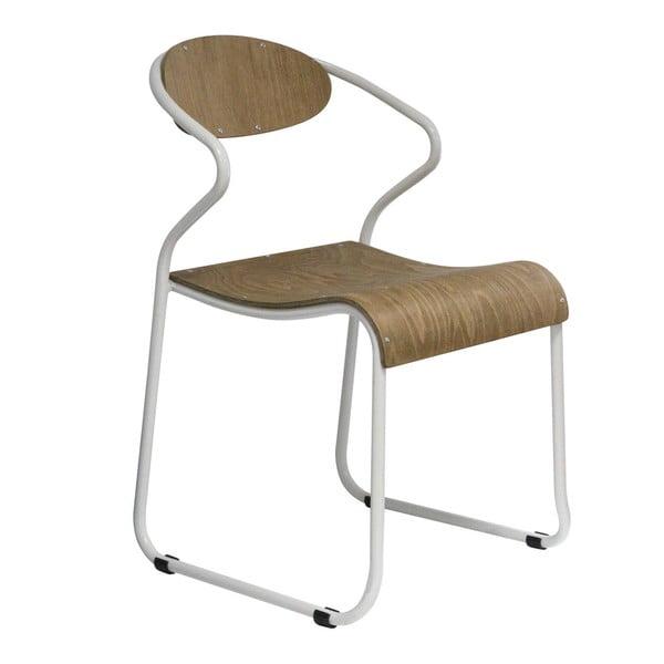 Jedálenská stolička s bielymi nohami Red Cartel Walter
