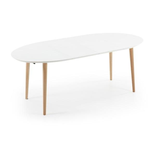 Biely rozkladací jedálenský stôl La Forma Oakland