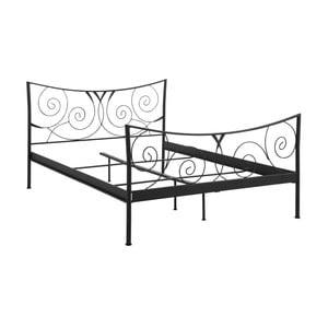 Čierna dvojlôžková kovová posteľ Støraa Isabelle, 140 x 200 cm