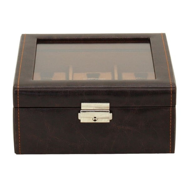 Hnedý box na 6 hodiniek Friedrich Lederwaren Bond