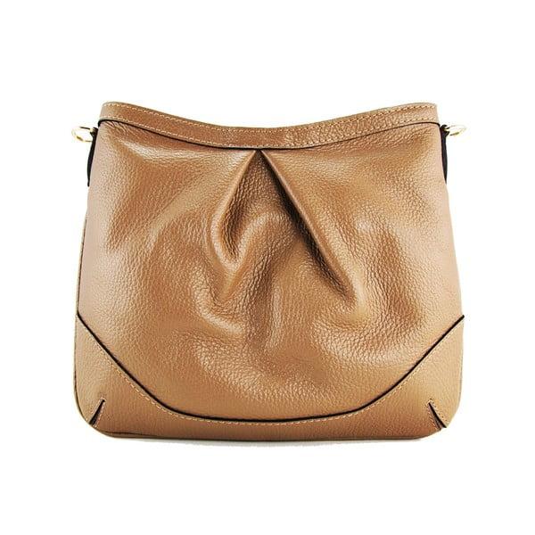 Kožená listová kabelka Maltisa Taupe