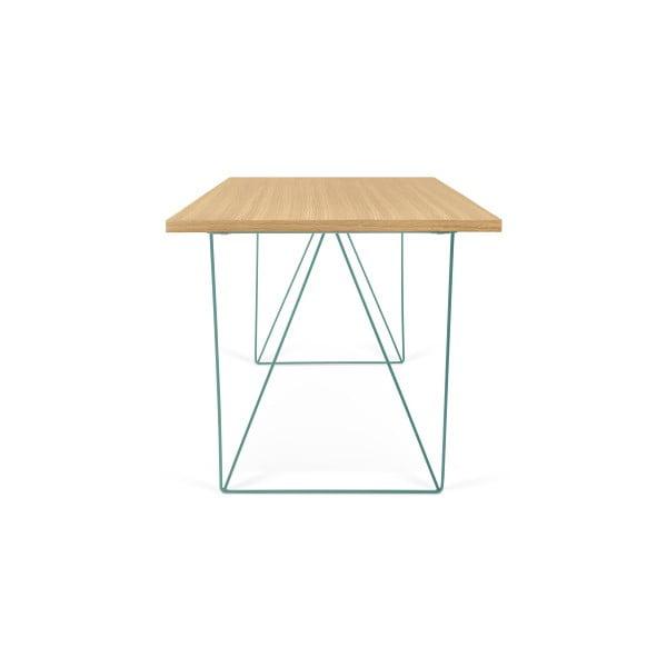 Pracovný stôl so zelenými nohami TemaHome Flow