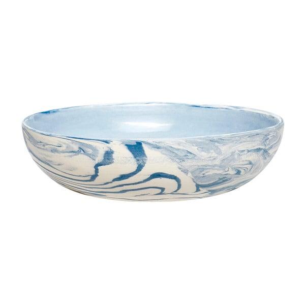 Modro-biela miska Hübsch Marble, ø 13 cm