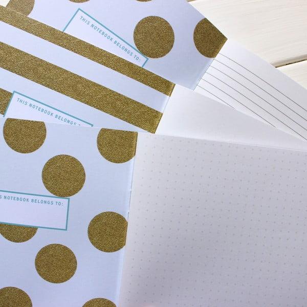 Sada 3 zápisníkov Secrets, Notes, Sketches A5