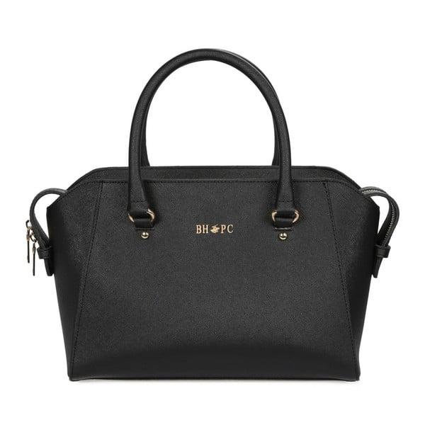 Čierna kabelka z eko kože Beverly Hills Polo Club Sonia