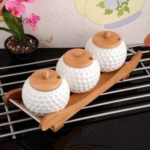 Bambusová tácka s 3 koreničkami Karlos