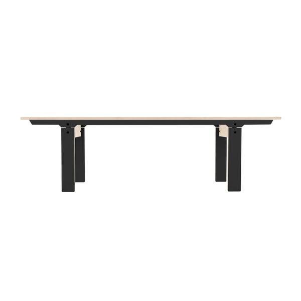 Čierna lavica na sedenie rform Slim 04, dĺžka 165 cm