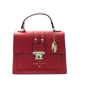 Červená kožená kabelka f.e.v. by Francesca E. Versace Salima