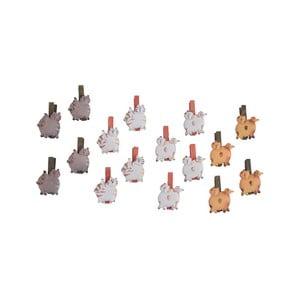 Sada 16 kolíkov na prádlo Ego Dekor Cats