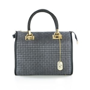 Sivá kožená kabelka Anna Morellini Doris