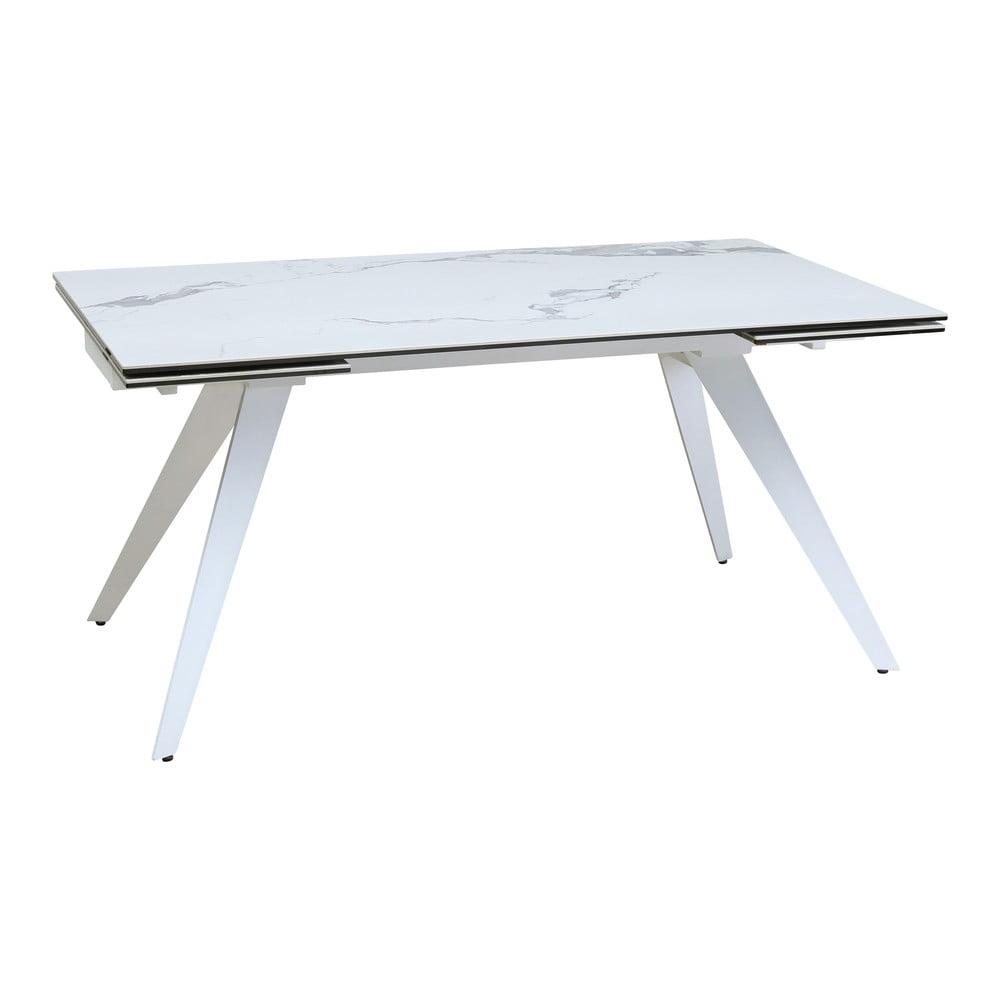 Biely rozkladací jedálenský stôl Marckeric Duke