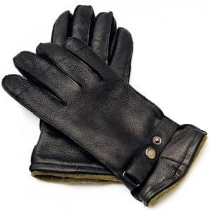 Pánske čierne kožené rukavice Pride & Dignity Logan, veľ. XL