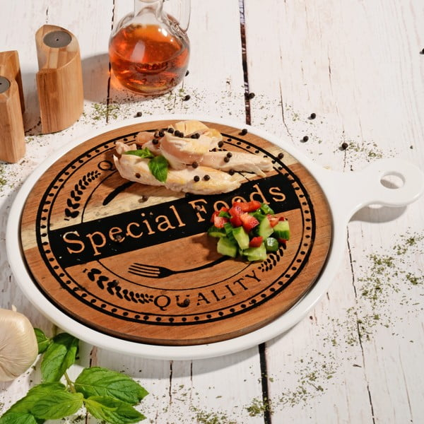 Bambusová doštička na servírovanie Round Special