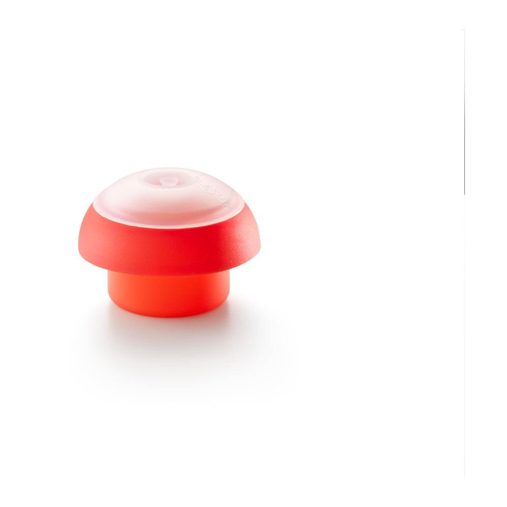 Červená guľatá silikónová formička na varenie vajec v mikrovlnnej rúre Lékué Ovo, ⌀ 10 cm
